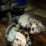 Menjava motorja mešalnika